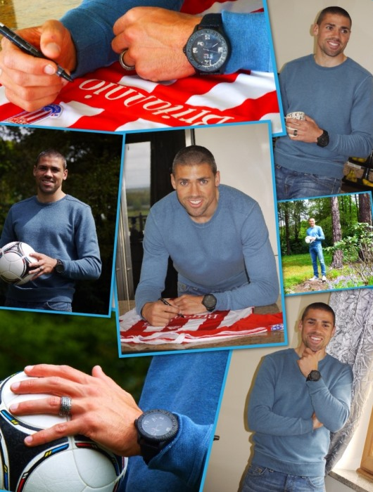 Jon Walters With His 3H Italia Black Hole Watch