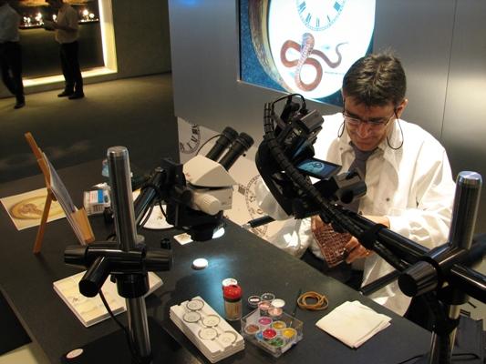 Enameler Painting a Dial at Jaquet Droz