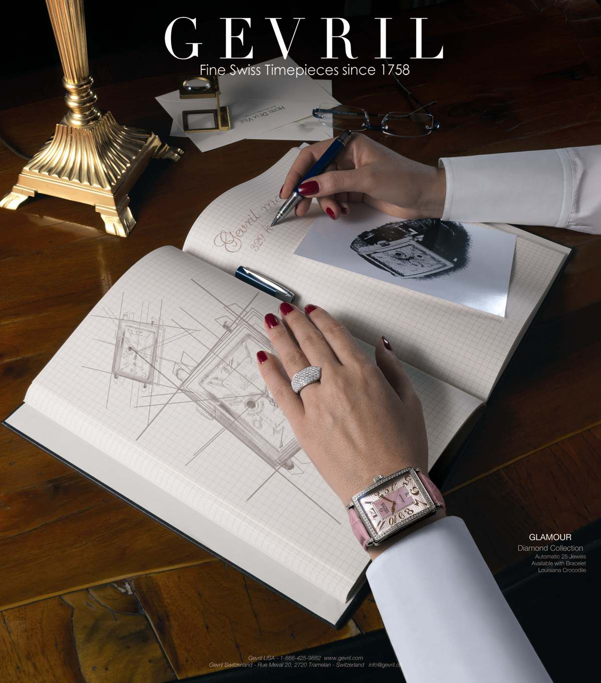 Invitation to the Gevril Watch Exhibit, March 8-14, 2012 at Baselworld 2012, Hall 1.1, Booth A-13