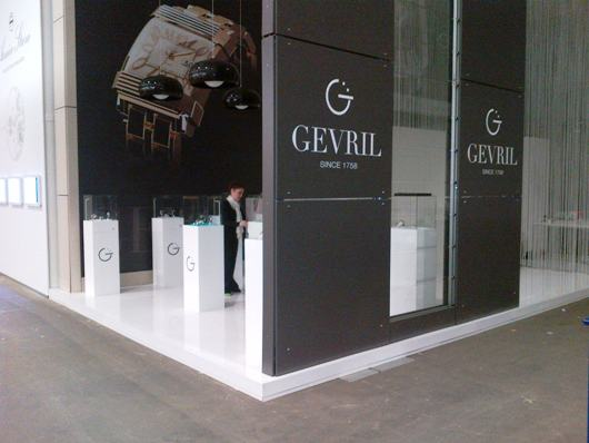 Maria Rinaldi in the Gevril Baselworld 2012 Booth Hall 1.1 Booth A-13