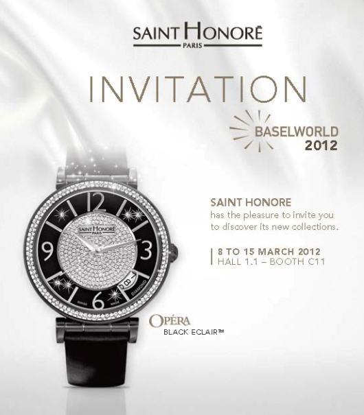 Saint Honoré Watches at Baselworld 2012