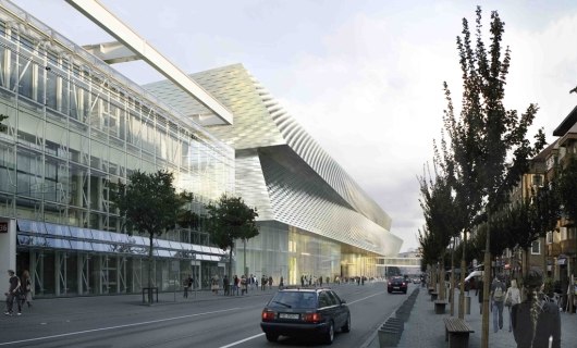 Artist's Rendition of the New Basel Exhibition Center to Be Completed in Time for Baselworld 2013