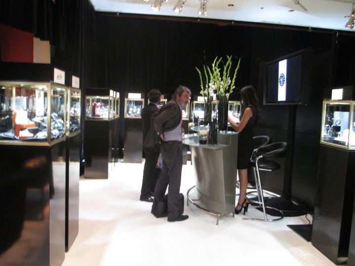 Visitors Checking in with Gevril Group Reception at Couture Time 2012