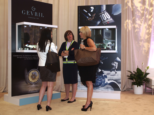 Gevril Regional Sales Manager Eilene Herszfeld Showing Gevril Watches