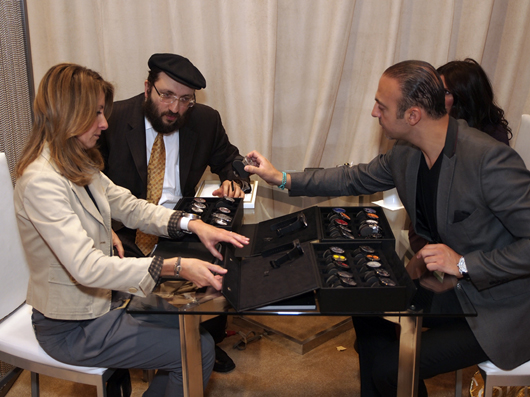 Monica Banon and Samuel Friedmann Showing the Meccaniche Veloci Collection at Couture 2013