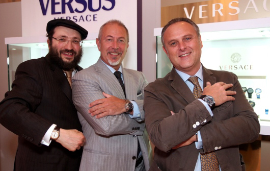 Vertime CEO Paolo Marai with Gevril President Samuel Friedmann and Jon Luigi