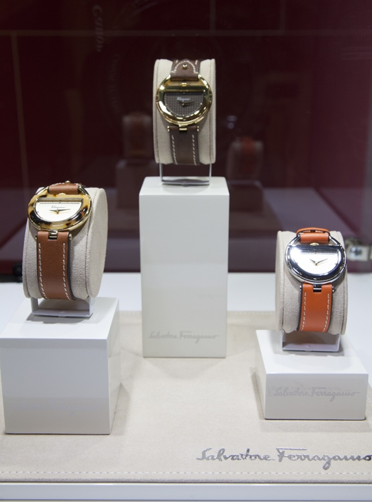 Ferragamo Buckle Collection on Display at Couture 2014