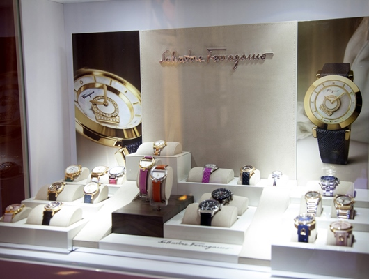 Ferragamo Display at Couture 2014