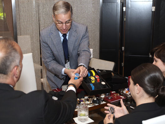 Paul Ziff Showing Ferragamo Watches at Couture 2013