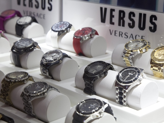 Versus Watch Display at Couture 2014