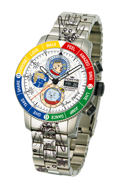New Fortis 659.27.92 Limited Art Edition Andora Emotions Chronograph Watch