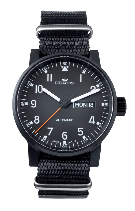 Fortis Spacematic Black Pilot Professional 623.18.71 N01