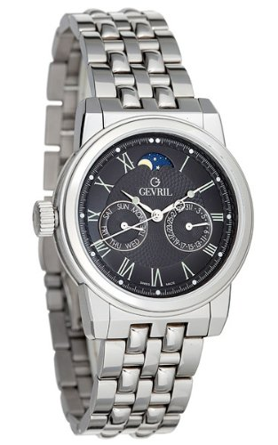 Gevril Mens GV2 2604B Moonphase Luxury Watch
