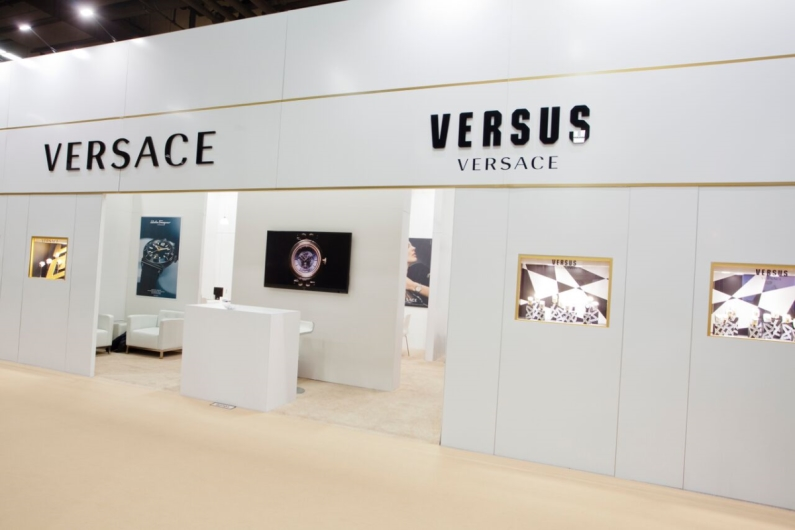 Versace and Versus Booths