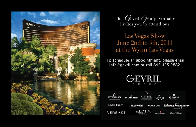 The Gevril Group cordially invites you to attend our Las Vegas Show from June 2nd to 5th at the Wynn Las Vegas