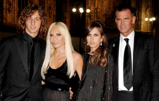 Allegra With Brother Daniel, Mom Donatella and Dad Paul Beck