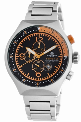 Avio Milano Mens 50 MM TP ORANGE 50MM Collection Chronograph Watch
