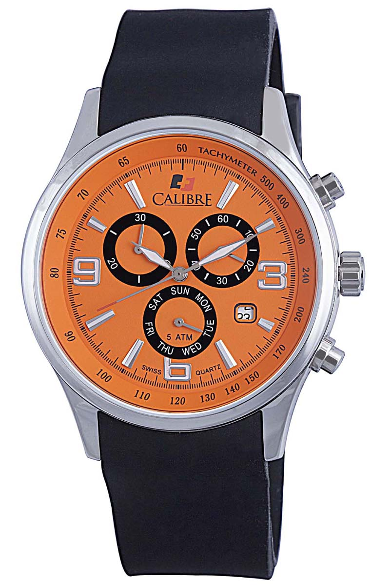 orange watches men s watches calibre sc 4m1 04 079 mauler orange chronograph