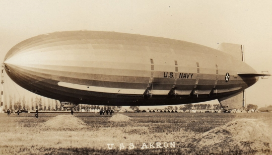 USS Akron Helium Filled Airship