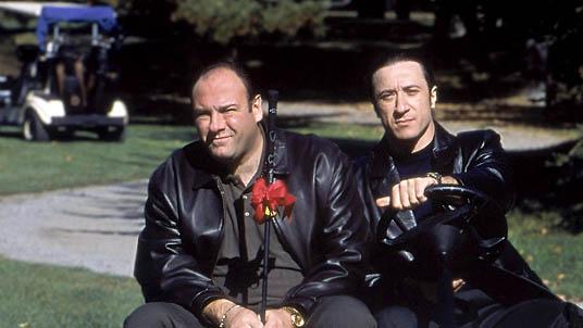 Federico Castelluccio and James Gandolfini in The Sopranos