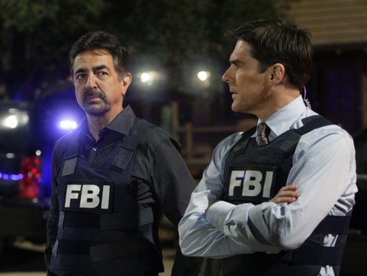 Joe Mantegna and Co-Star Thomas Gibson in Criminal Minds Episode Paradise