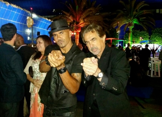 Joe Mantegna and Shemar Moore by the TCA Press Tour Party