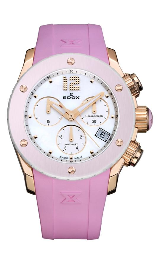 Edox Chronograph Watches - 10403 37RR NAIR Ladies Class 1