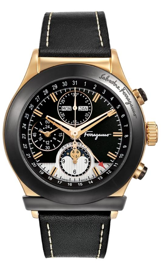 Ferragamo Chronograph Watches - F62LCA5213 S009 Mens 1898