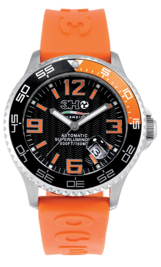 3H Italia Diver Watches - 441AN Mens Oceandiver