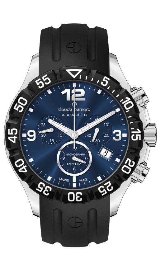 Claude Bernard Diver Watches - 10205 3 BUIN Mens Aquarider Chronograph