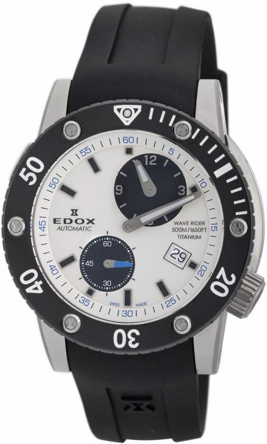 Edox Diver Watches - 77001 TIN AIN Mens Class-1 Wave Rider