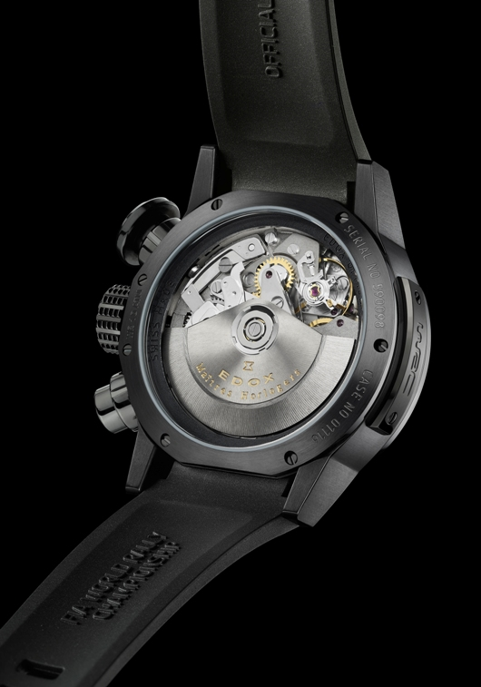 Edox Chronorally Automatic Chronograph Introduced at Baselworld 2012 - 01116 357N NIN Back View