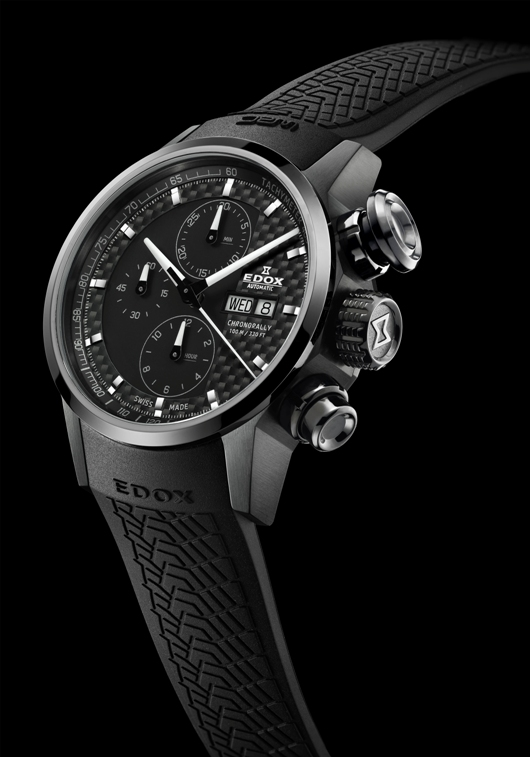 Edox Chronorally Automatic Chronograph Introduced at Baselworld 2012 - 01116 357N NIN Front View
