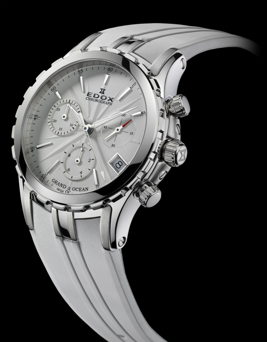 Edox Grand Ocean Chronolady Introduced at Baselworld 2012 - 10410 3 AIN Front View