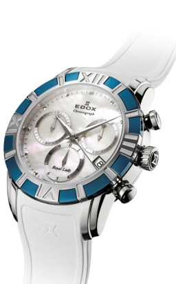 Edox Ladies 10405 357B NAIN Royal Lady Chronograph Watch