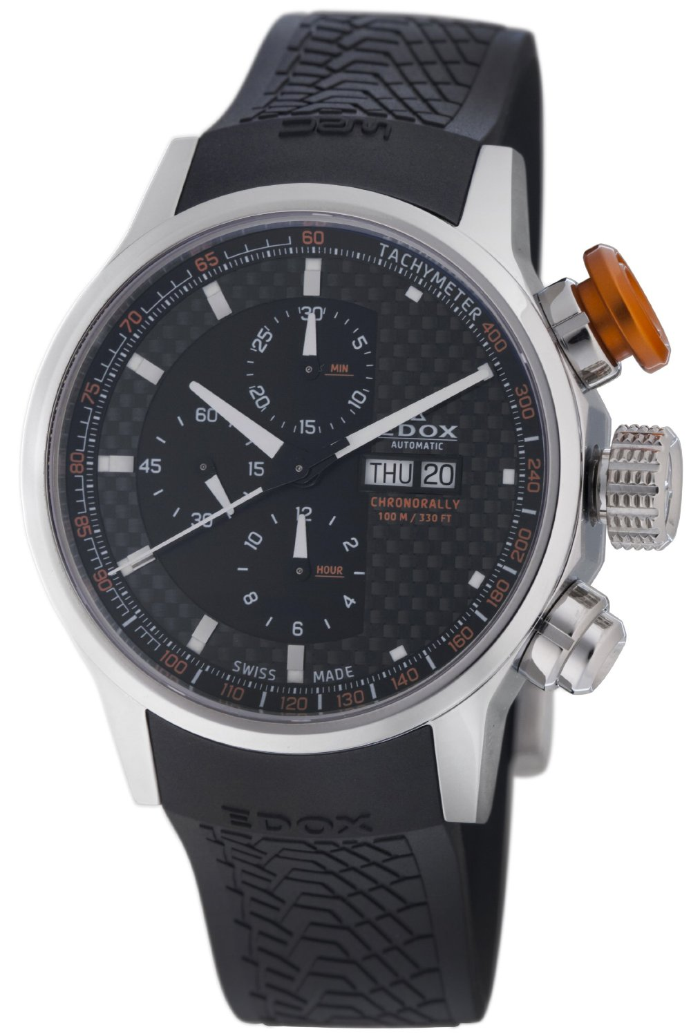 Edox Mens 01110 3 NIN WRC Automatic Chronorally Watch - Front View