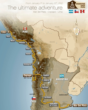 Dakar Rally-Raid Current Route