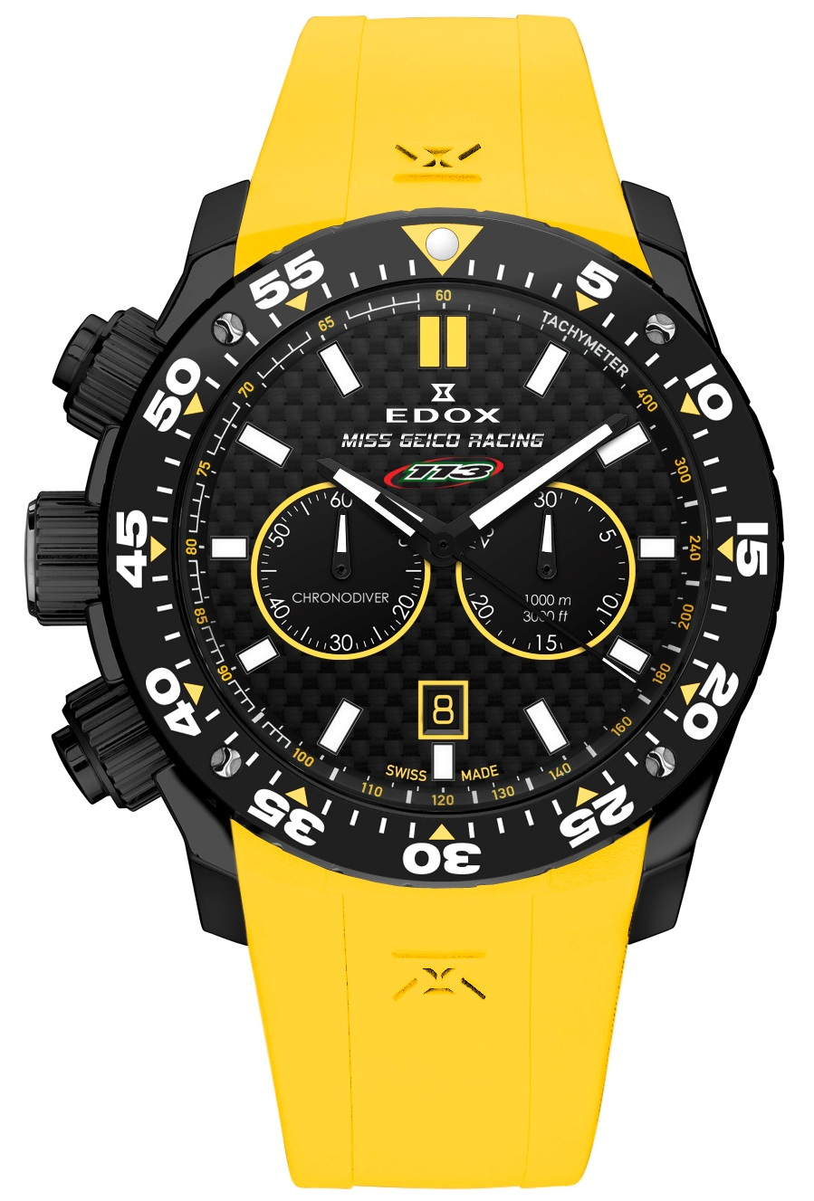 Edox Offshore Sport Watch Miss Geico Five Time World Champion Celebration Chronograph