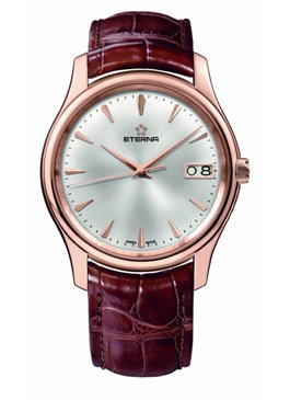 Eterna Mens 7630.69.10.1185 Vaughan Rose Gold Big Date Luxury Watch