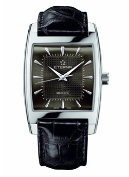 Eterna Mens 7711.41.51.1177 Madison Stainless Steel Three- Hands Watch