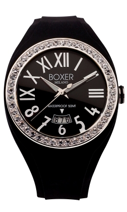 Boxer Milano Fashion Watches - BOX 40Z BLACK Ladies Boxer 40 Zirconia Bezel