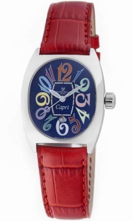 Montres Deluxe Fashion Watches - CP3-AC-QZ-BLU-C RED Ladies Capri