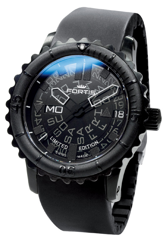 Fortis Mens 675-18-81-K B-47 Limited Edition Big Black