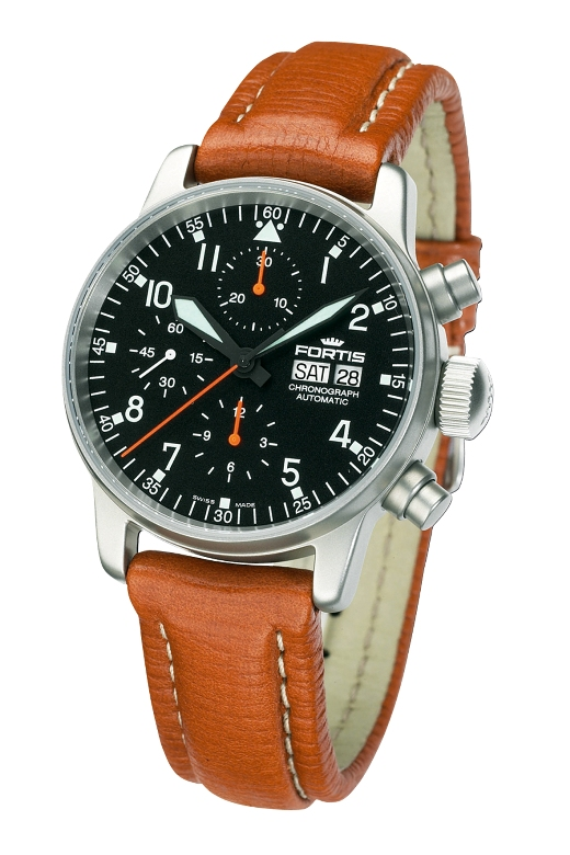 Fortis 597.11.11 L 08 Mens Fleiger Automatic Chronograph Aviator Watch