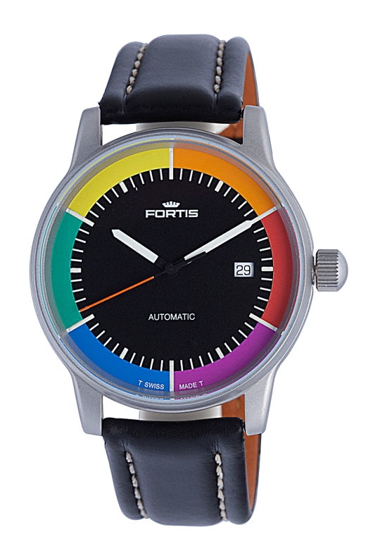 Fortis 595.10.31 WI Men's Edition Winner Automatic Black Dial Watch