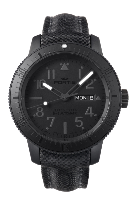 Fortis 647.28.81 Pitch Black