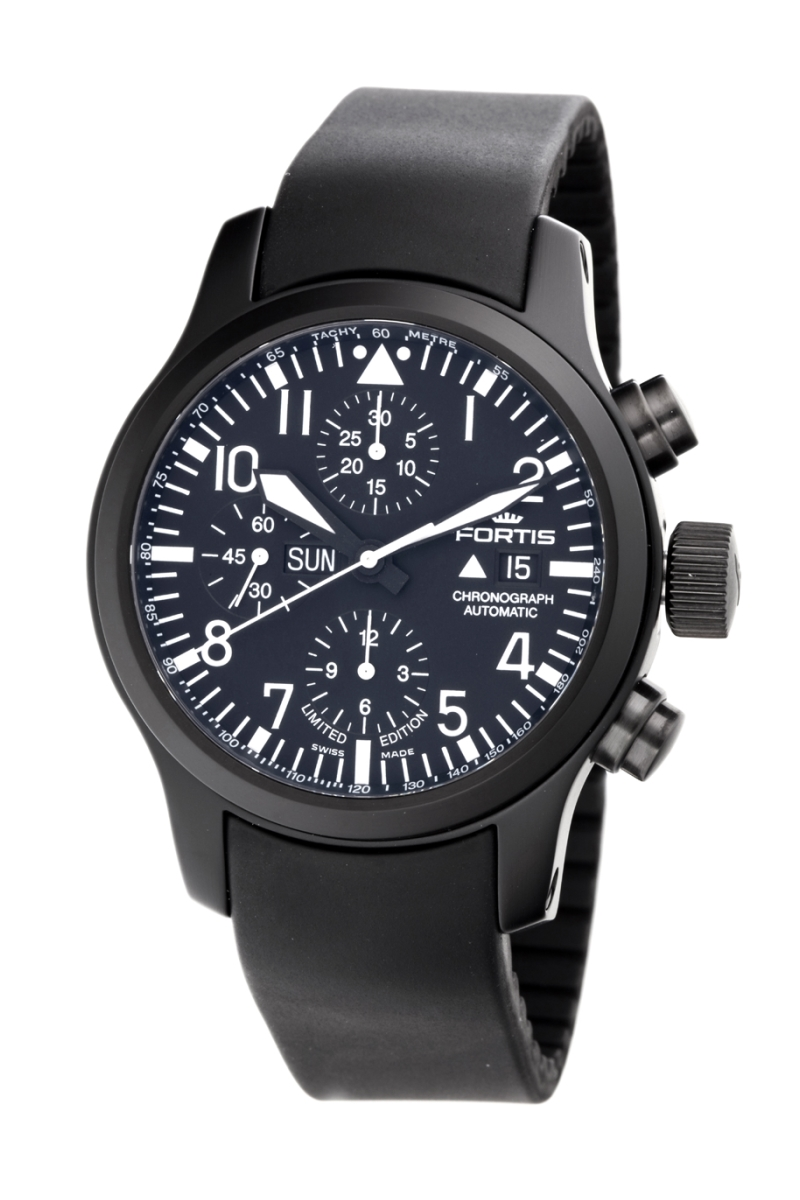 Fortis 656.18.81.K Men's B-42 Flieger Black Chronograph