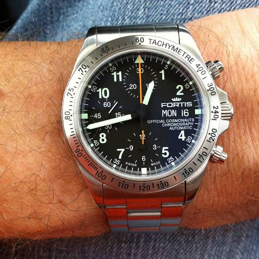 Fortis Official Cosmonauts Chronograph Automatic - Wrist Shot
