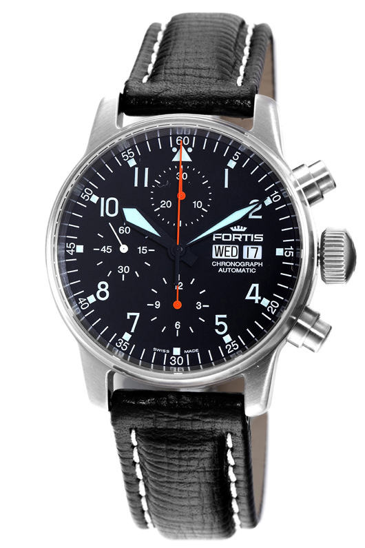 Fortis Mens B-42 Flieger Automatic Chronograph - 597.11.11 L.01