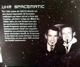 Fortis Spacematic poster - the Spacematic was used by the American Gemini astronauts and featured in the 2009 science fiction film CARGO